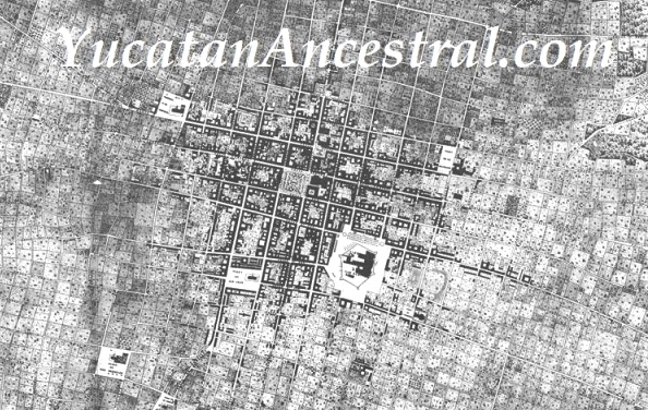 Merida 1865 plano topografico Yucatan Ancestral