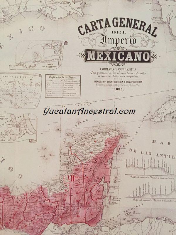 Mapas de Yucatán Siglo XIX