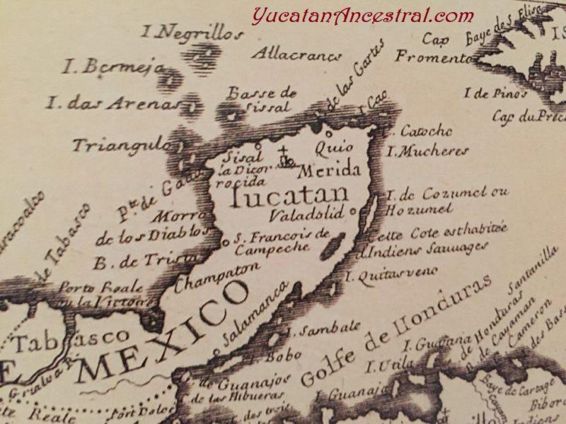 Mapas de Yucatán Siglo XVIII