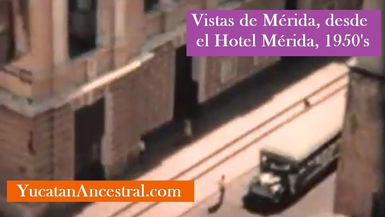 Mérida desde lo alto del Hotel Mérida 1950s