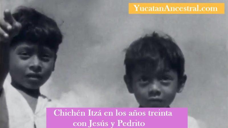 Chichén Itzá 1930 con Jesús y Pedrito