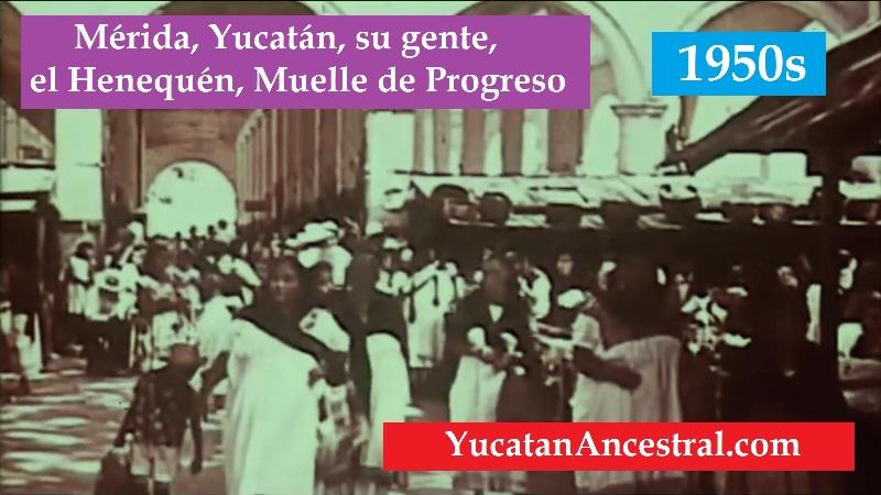 Mérida habitantes Henequén Muelle Progreso 1950s