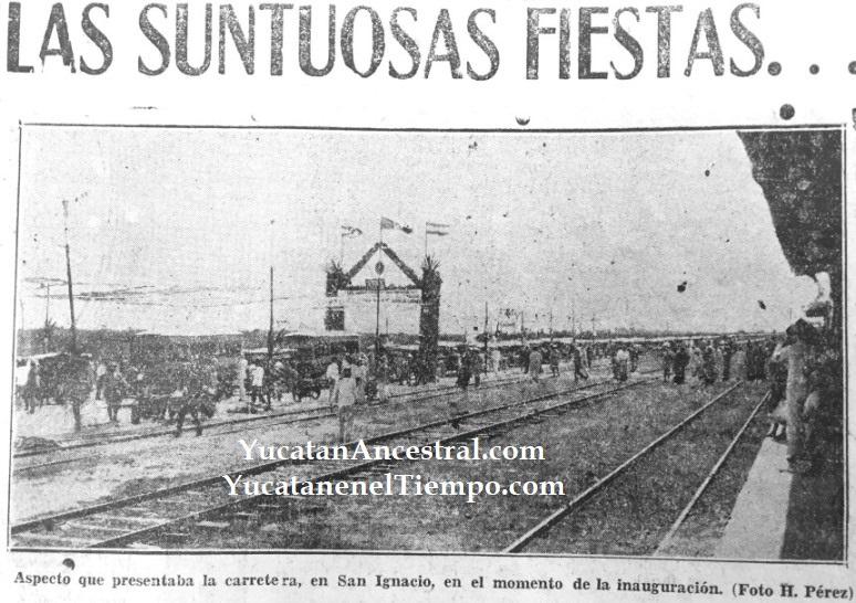 Inauguración de la carretera Mérida-Progreso