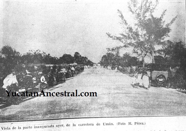 Inauguración de la carretera Mérida-Umán 1928
