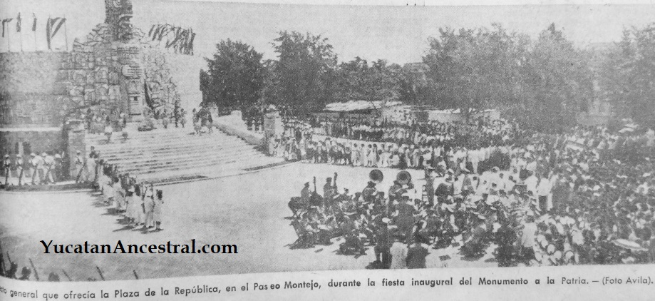 Inauguración del Monumento a la Patria en Paseo de Montejo