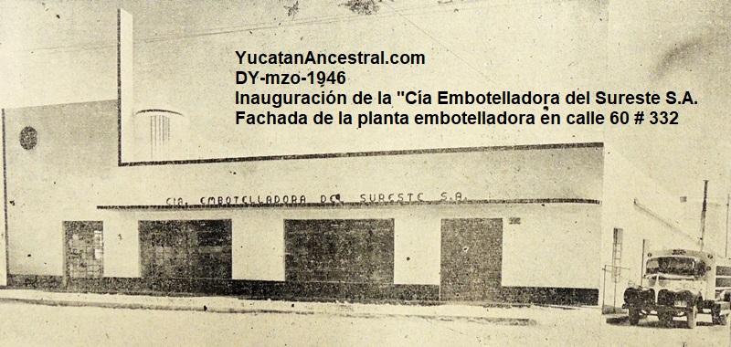 Nueva Planta Embotelladora de Pepsi-Cola en Mérida 1961 - I