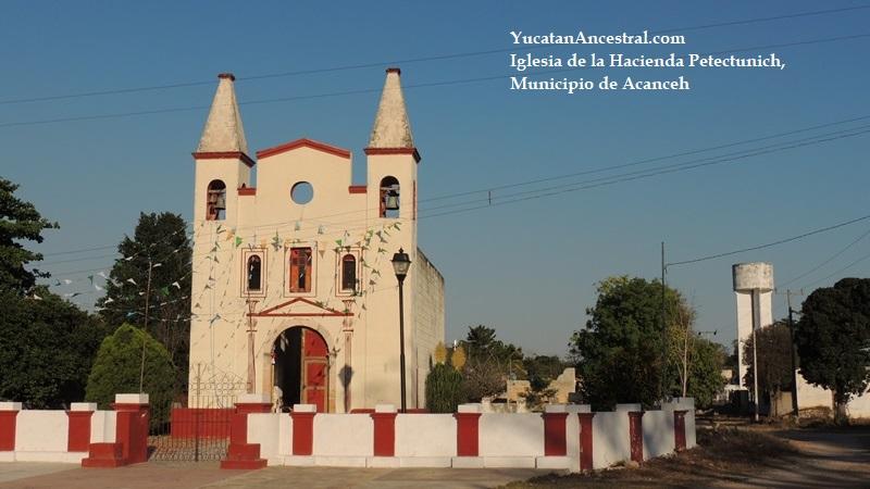 Iglesia de la Hacienda Petectunich, Acanceh, Yucatán, México