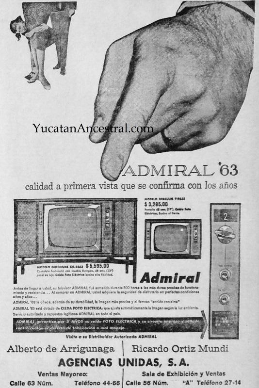 Anuncio de televisiones en Mérida