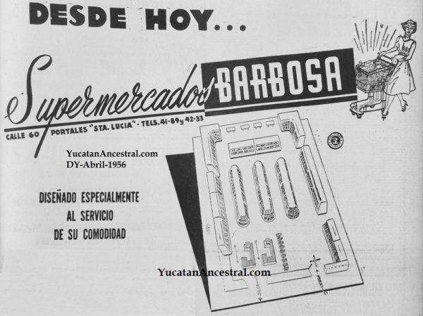 Inauguración de Supermercado en Mérida en 1956