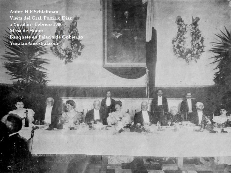 Banquete al Presidente General Díaz en Palacio de Gobierno