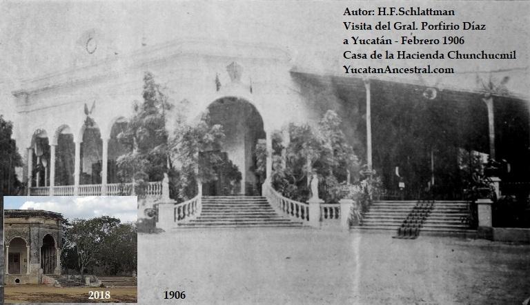 El Presidente Porfirio Díaz visita la hacienda Chunchucmil