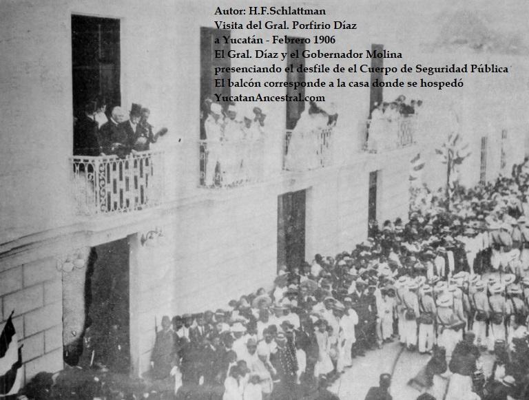 Velada en Hacienda Sodzil en honor al Presidente Díaz