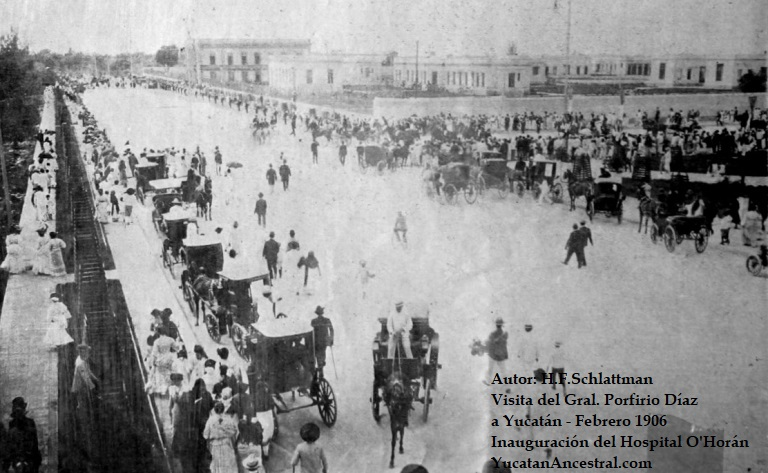 General Díaz inaugura el Hospital O'Horán en febrero 1906