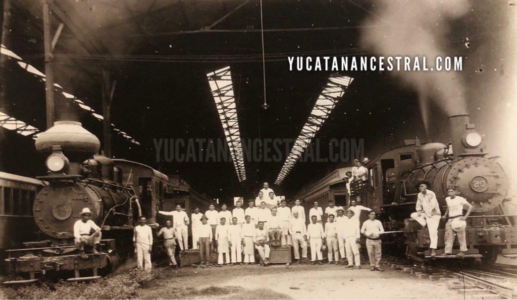 Movimiento diario de Ferrocarriles en la Ciudad de Mérida 1896