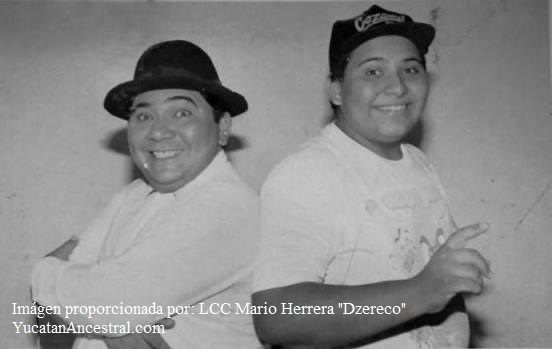 """Don Mario Herrera Flores """"Mario Tercero"""" y su hijo Mario Herrera """"Dzereco"""""""