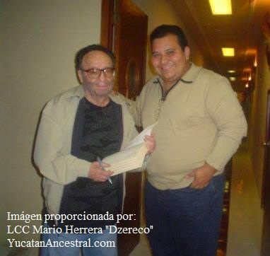 """Don Roberto Gómez Bolaños """"Chespirito"""" y LCC Mario Herrera """"Dzereco"""""""