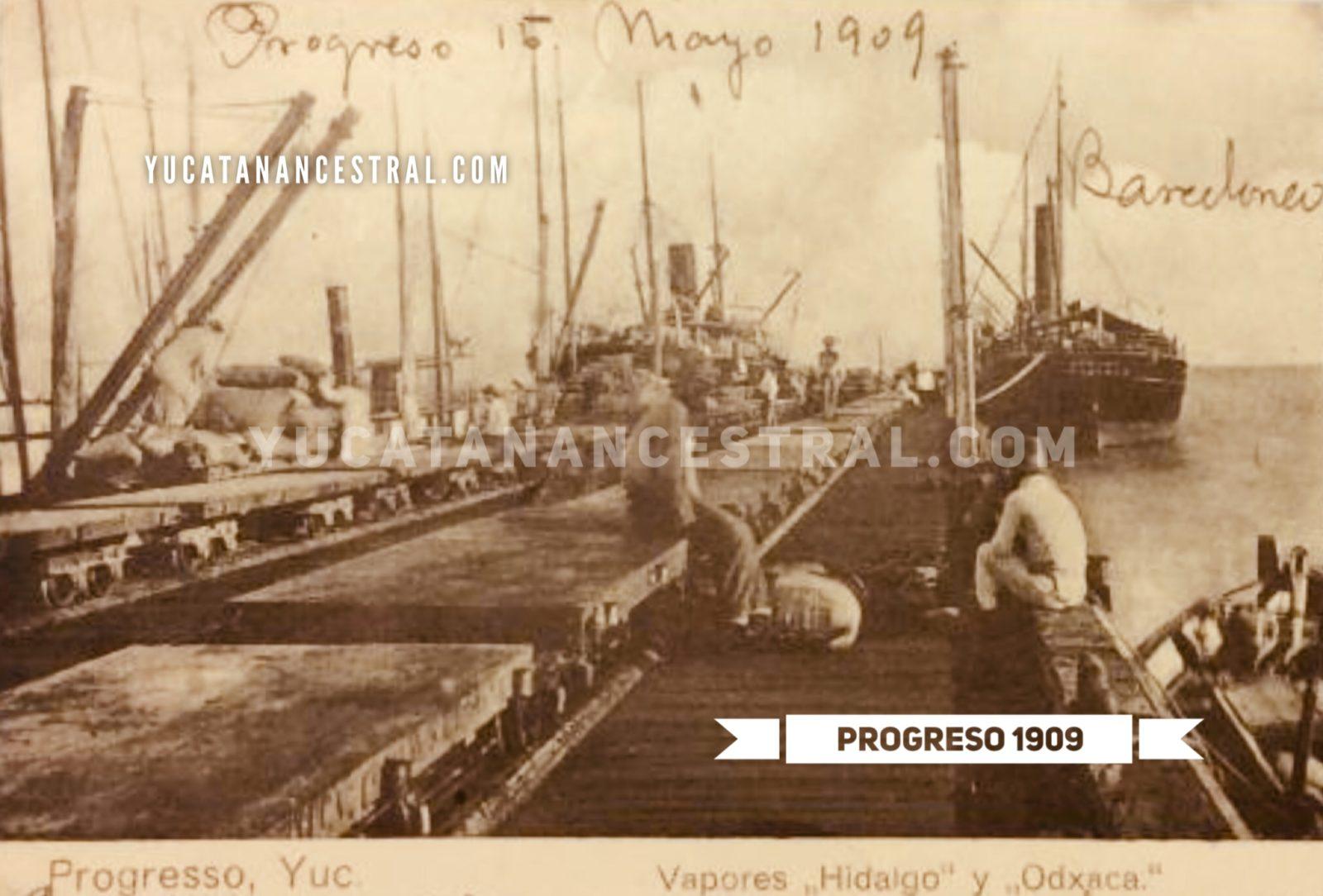 Muelle de Progreso Yucatán 1909