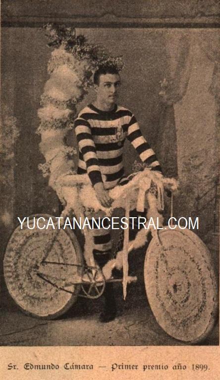 Primer premio del concurso de bicicletas Carnaval de Mérida de 1899