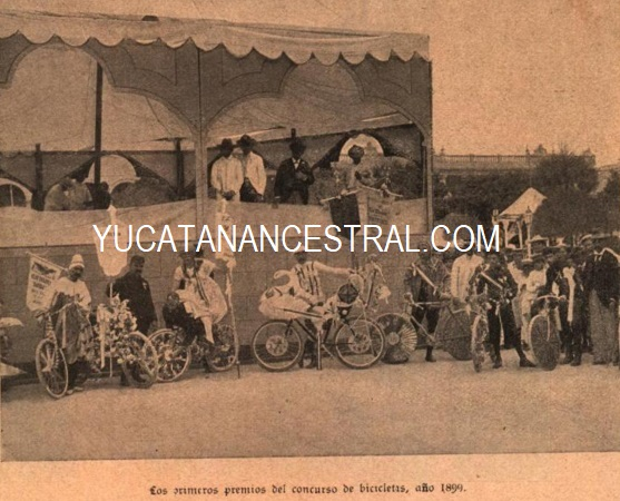 Concurso de adorno de bicicletas Carnaval de Mérida de 1899