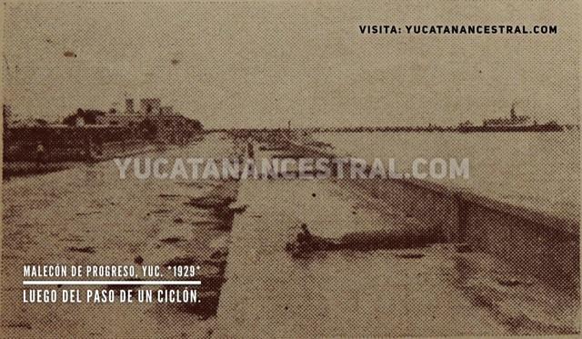 Malecón de Progreso, Yuc. 1929