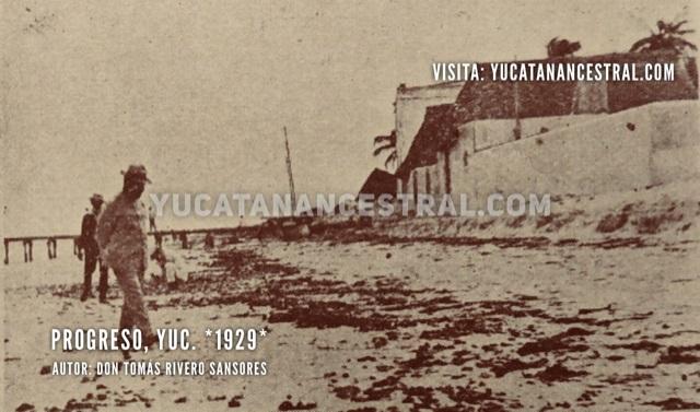 Playa de Progreso Yucatán 1929