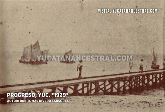 Muelle de Progreso Yucatán 1929