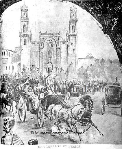 Los paseos de carnaval de Mérida