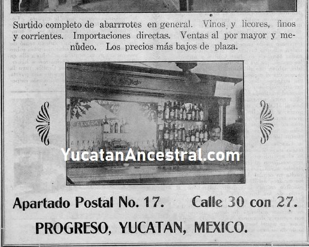 Antiguas cantinas y licorerías en Progreso