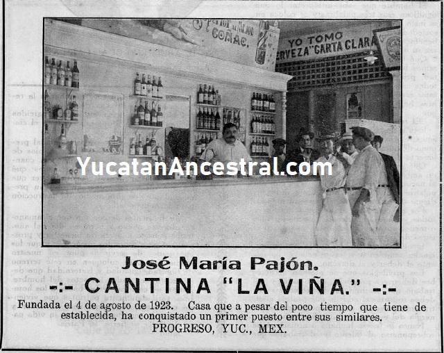 Antiguas cantinas y licorerías en Progreso 1920s