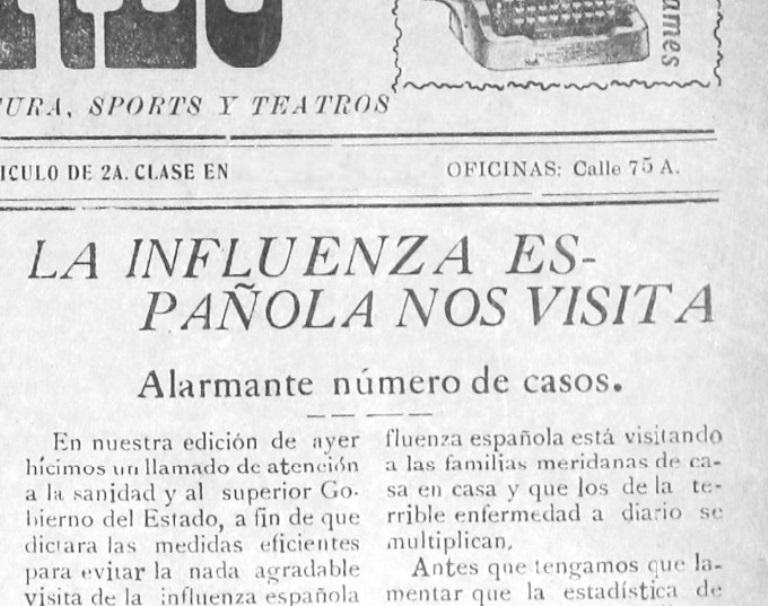 La Influenza Española visita Yucatán