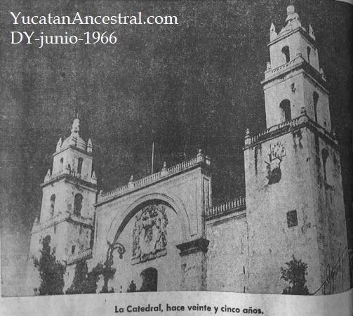 Restauración de la Catedral de Mérida 1966
