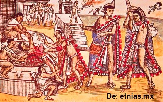 Sacrificios humanos de los mayas
